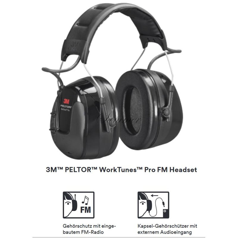 3m peltor worktunes pro fm radio headsets 118 41. Black Bedroom Furniture Sets. Home Design Ideas