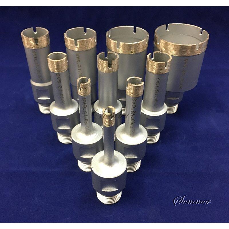 Marmor Kohlenstoffstahl f/ür Glas Porzellan Diamantbohrer 6-32 mm Baban 10-teilige Lochs/äge Diamantbohrer Hohlkernbohrer-Set f/ür Diamantbeschichtung Keramikfliesen Keramik